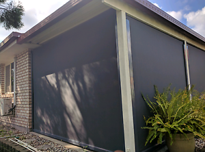 Charcoal Grey Privacy Blinds Narangba Caboolture Area Preview