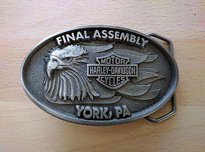 Harley Davidson Eagle Final Assembly York PA Belt Buckle
