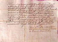 Documento De Angles, Pedro Rubionet Procurador 1753 -  - ebay.es