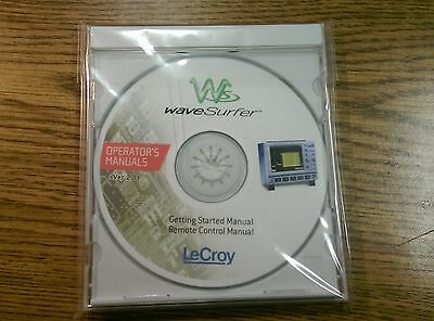 Lecroy Wavesurfer Operators Getting Started Remote Control Manual Cd