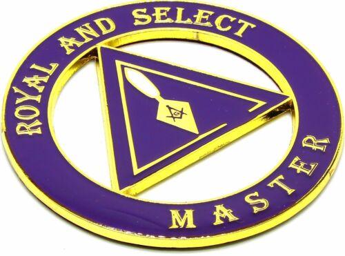 "Masonic 3""  Royal & Select MASTER Car Auto Emblem Black Gold DMCE06"