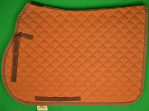 Hermes Orange Quilted Saddle Pad/ Cloth (New w/ Tag!)