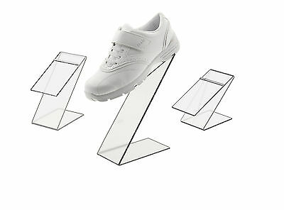 Black Slant Back Acrylic Shoe Risers Display Stand - Set Of 3