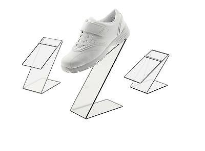 Black Slant Back Acrylic Shoe Risers Display Stand - Set Of 3