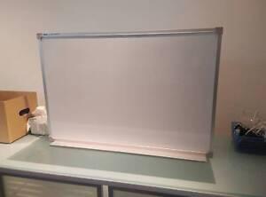 Office Whiteboard with Pen Rack 60cm x 90cm Beverly Hills Hurstville Area Preview