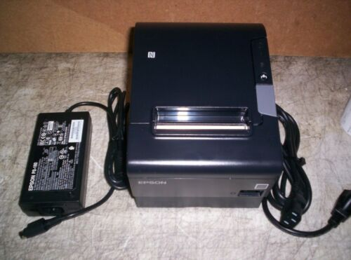 Epson TM-T88VI Thermal Receipt Printer w/ PS Cutter Ethernet USB M338A