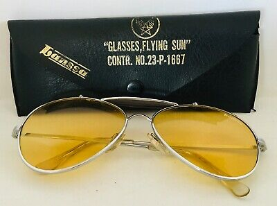 LANSSA vintage pilot flying sun design sunglasses + etui 1980's