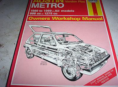 haynes workshop manual Austin Metro1980-1989