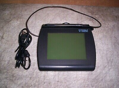 Topaz T-lbk766se-bhsb-r Back Lit Signature Tablet With Stylus And Usb Cable