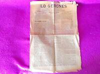 Lo Gerones, Periodich De Avisos Y Noticies 1901, 5 De Desembre De 1901, Rar -  - ebay.es