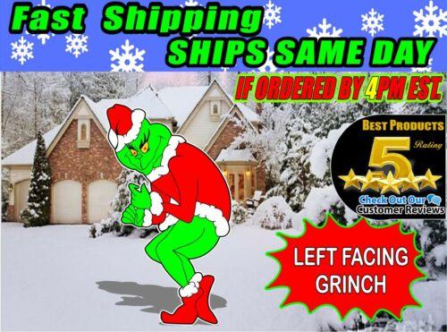GRINCH Stealing CHRISTMAS Lights Yard Art LEFT Facing Grinch FREE SHIPPING