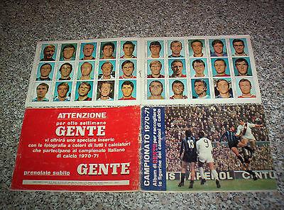 ALBUM CAMPIONATO 1970-71 GENTE VUOTO+FOGLIO 30 FIGURINE TIPO CALCIATORI PANINI