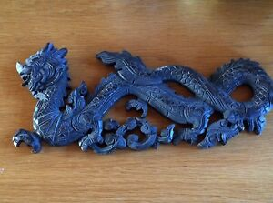 Carved Wooden Asian Dragon