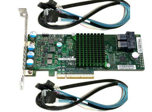 Supermicro AOC-S3008L-L8E 12Gb/s 8-Port HBA IT-Mode Controller SAS 3008 w Cables