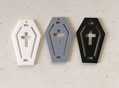 Lot of 5 Plastic COFFIN with CROSS Trims 4