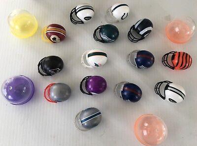 American Football Caps - Lot 14 Plastic American Football NFL Helmet Miniature Caps W/Case C1