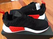 ADIDAS NMD R2 PRIMEKNIT US 10 BLACK/WHITE/RED Brand New Hurstville Hurstville Area Preview