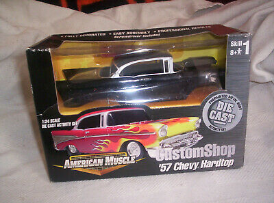 ERTL AMERICAN MUSCLE 1957 CHEVY DIECAST MODEL KIT 1/24 SCALE NEW IN BOX LEVEL 1