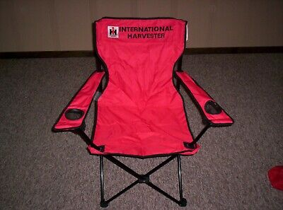 Farmall International Harvester Tractor Farm Truck Folding Chair Rare Find