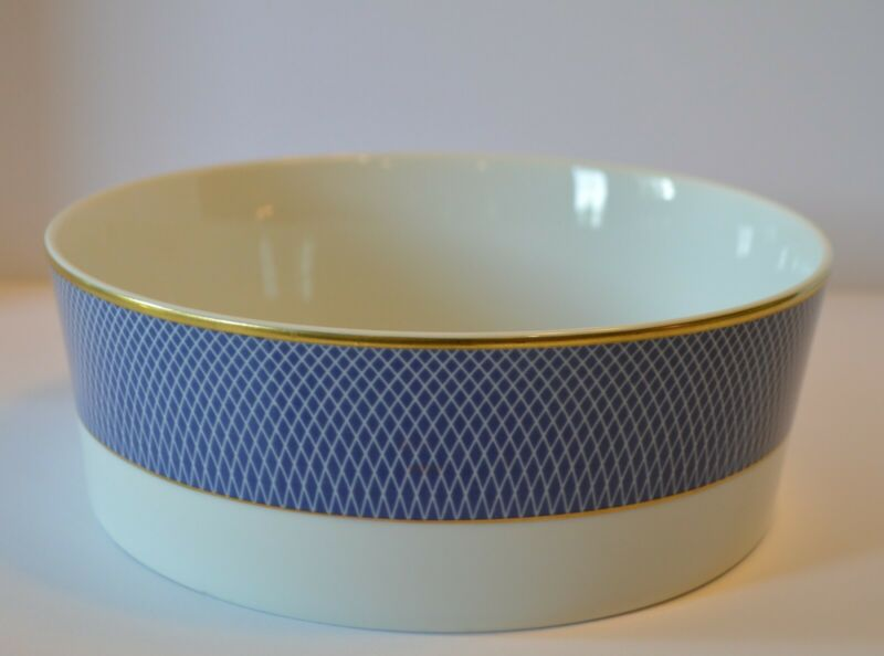 Block Spal Portugal BLUE SKIES Porcelain Gold Trim Vegetable Bowl