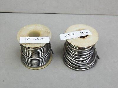 2 Rolls Flux Type Wire Solder 2mm 1 Lb 3mm 14.5 Oz Lot Auto Electronic