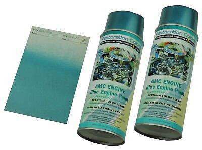 Amc Amx Javelin Rebel Gremlin High Temp Engine Blue Metallic Spray Paint 2Can