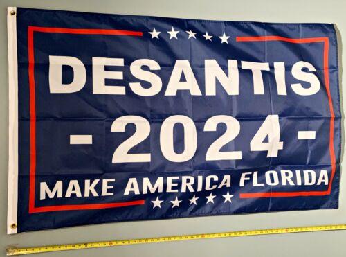 RON DESANTIS FLAG *FREE SHIP USA SELLER! Make America Flordia 2024 USA Sign 3x5