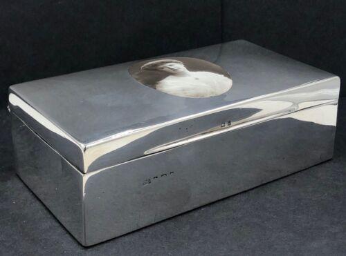 Sterling silver & Enamel cigarette box Birmingham 1908