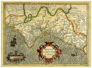 Valencia-Mediterranean-Sea-Spain-illustrated-map-Hondius-ca-1633