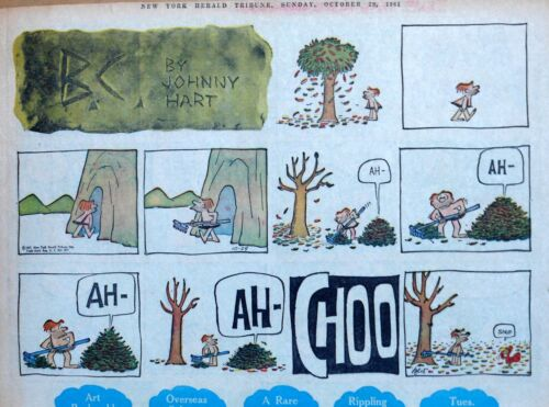 B.C. by Johnny Hart - early large half-page color Sunday comic, October 29, 1961