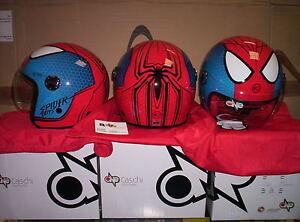 CASCO-MOTO-DEMI-JET-BAMBINO-JUNIOR-ONE-GRAFICA-SPIDER-MAN-950gr-TAGLIA-S-48