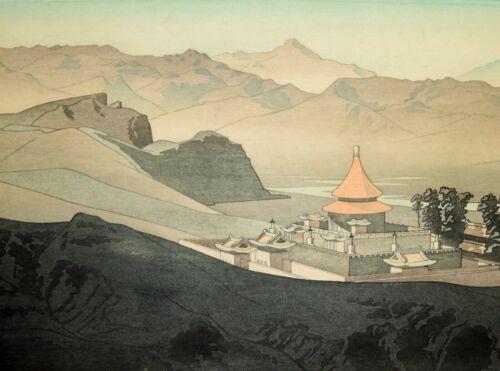"Japanese Woodblock by Pieter Irwin Brown (1903-1988), Jehol, Manchuria"" c. 1937"