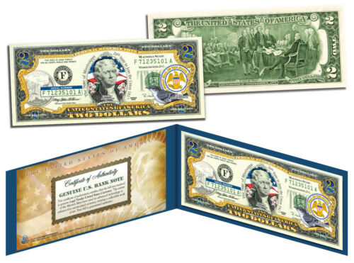 MISSISSIPPI Statehood $2 Two-Dollar Colorized U.S. Bill MS State *Legal Tender*