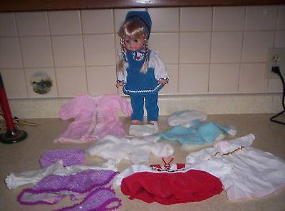 "14"" Vintage Vogue Littlest Angel Doll W CLOTHES 14'' SEVEN VOGUE  OUTFITS"