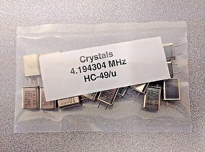 20 Pcs 4.194304 Mhz Crystal Oscillator Hc-49u Usa Seller