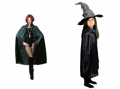 Kostüm Cape Umhang schwarz Dracula Vampir Erwachsene Kinder Halloween Fasching ()
