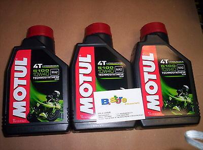 3 Lt Öl Motul 5100 10W40 Motorroller 4T Technosynthese MA2 Kunststoff