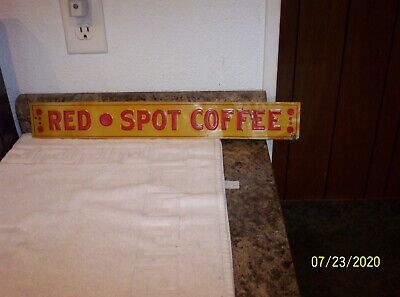 """RARE VINTAGE """" RED SPOT COFFEE """" TIN SIGN - PLUS MUCH MORE - TAKE A L@@K!!"""