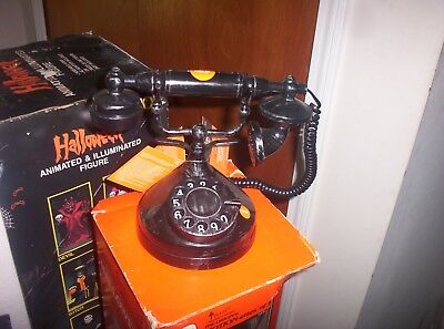 Halloween GEMMY HYDE AND EEK! HAUNTED VINTAGE PHONE-New with Tags