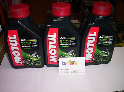 3 Lt Öl Motul 5100 10W50 Motorroller 4T Technosynthese MA2 Kunststoff