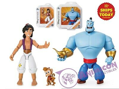 "Disney Store ALADDIN & GENIE & ABU Toybox 6"" Action Figure Lamp NEW 2019 LOT 2"