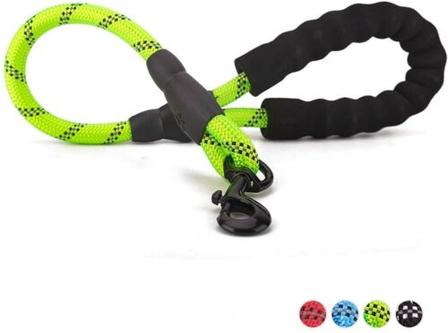PETnSport 2 FT Short Training Dog Leash w/Soft Padded Handle, Heavy Duty Clip