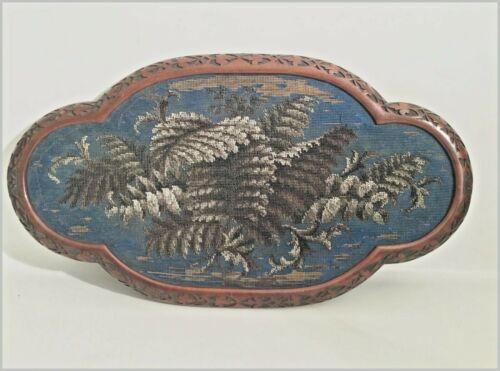 Beautiful Antique English Beaded Tray