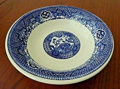 BLUE WILLOW 6 COUPE CEREAL BOWL ROYAL CHINA-R - $12.99