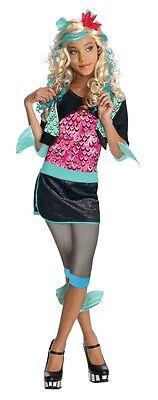 Blonde Fashionista Monster High Lagoona Blue Girl Pink/Aqua Polyester Wig Rubies