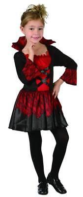 Kurzes Vampirkleid für Mädchen schwarz-rot - Vampir Rot Kleid Kostüm