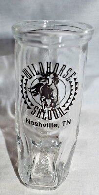 Estate   Shot Glass=Souvenir Wild Horse Saloon, Nashville, TN  Boot Shaped LOOK](Boot Shaped Shot Glass)