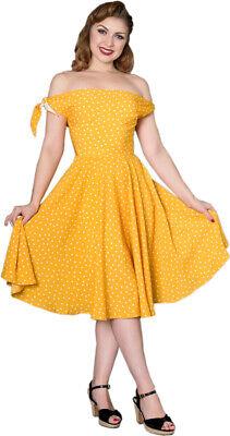 Sheen TAYLOR Vintage Polka Dot PUNKTE Bow Retro SWING Kleid Plus Size Rockabilly