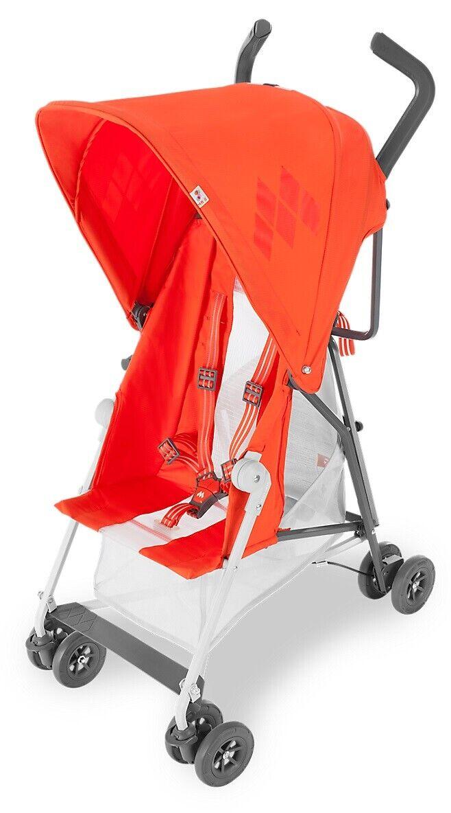 Maclaren Mark II with Recline Stroller, Spicy Orange