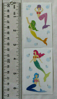 Mrs Grossman MERMAIDS Reflections - Strip of Mermaids and Bubbles Stickers'](Mermaid Stickers)